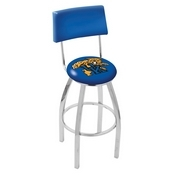 L8C4 - Chrome Kentucky Wildcat Swivel Bar Stool with a Back by Holland Bar Stool Company