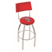 L8C4 - Chrome Wisconsin Badger Swivel Bar Stool with a Back by Holland Bar Stool Company