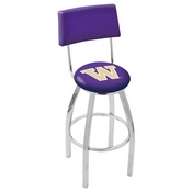 L8C4 - Chrome Washington Swivel Bar Stool with a Back by Holland Bar Stool Company