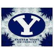 Brigham Young Logo Canvas by Holland Bar Stool Company