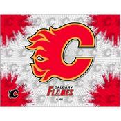 Calgary Flames Logo Canvas by Holland Bar Stool Company