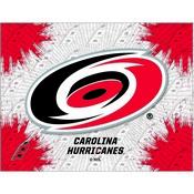 Carolina Hurricanes Logo Canvas by Holland Bar Stool Company