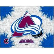Colorado Avalanche Logo Canvas by Holland Bar Stool Company