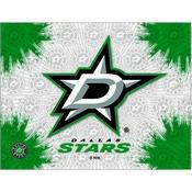 Dallas Stars Logo Canvas by Holland Bar Stool Company
