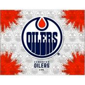 Edmonton Oilers Logo Canvas by Holland Bar Stool Company