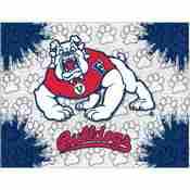 Fresno State Logo Canvas by Holland Bar Stool Company