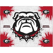 Georgia Bulldog Logo Canvas by Holland Bar Stool Company