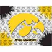 Iowa Logo Canvas by Holland Bar Stool Company