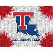 Louisiana Tech Logo Canvas by Holland Bar Stool Company