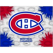 Montreal Canadiens Logo Canvas by Holland Bar Stool Company