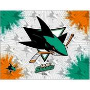 San Jose Sharks Logo Canvas by Holland Bar Stool Company
