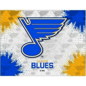 St Louis Blues Logo Canvas by Holland Bar Stool Company