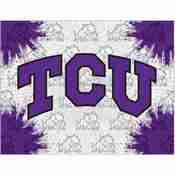 TCU Logo Canvas by Holland Bar Stool Company