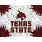 Texas State Logo Canvas by Holland Bar Stool Company