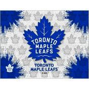Toronto Maple Leafs Logo Canvas by Holland Bar Stool Company