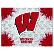 Wisconsin W Logo Canvas by Holland Bar Stool Company
