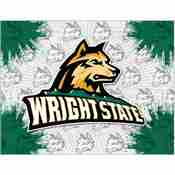 Wright State Logo Canvas by Holland Bar Stool Company