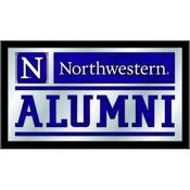 Northwestern Alumni Mirror by Holland Bar Stool Co.