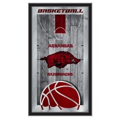 "Arkansas 15"" x 26"" Basketball Mirror by Holland Bar Stool Company"