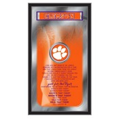 """Clemson 26"""" x 15"""" Fight Song Mirror by Holland Bar Stool Company"""