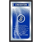 """Creighton 26"""" x 15"""" Fight Song Mirror by Holland Bar Stool Company"""