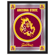"Arizona State 17"" x 22"" Logo Mirror with Sparky logo by Holland Bar Stool Company"