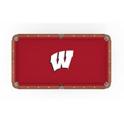 Wisconsin W Pool Table Cloth by HBS