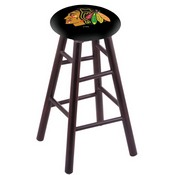 Stool with Chicago Blackhawks Logo Seat by Holland Bar Stool Co.