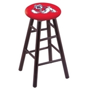 Stool with Fresno State Logo Seat by Holland Bar Stool Co.