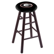 Stool with Georgia G Logo Seat by Holland Bar Stool Co.