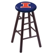 Stool with Illinois Logo Seat by Holland Bar Stool Co.