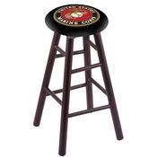 Stool with U.S. Marines Logo Seat by Holland Bar Stool Co.