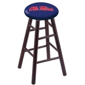Stool with Ole' Miss Logo Seat by Holland Bar Stool Co.