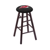Stool with New Jersey Devils Logo Seat by Holland Bar Stool Co.