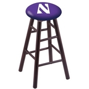 Stool with Northwestern Logo Seat by Holland Bar Stool Co.