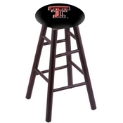 Stool with Texas Tech Logo Seat by Holland Bar Stool Co.