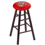 Stool with Wisconsin Badger Logo Seat by Holland Bar Stool Co.