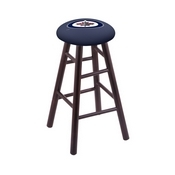 Stool with Winnipeg Jets Logo Seat by Holland Bar Stool Co.