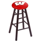Stool with Wisconsin W Logo Seat by Holland Bar Stool Co.