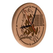 Arizona State Laser Engraved Wood Clock by the Holland Bar Stool Co.