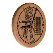 Auburn Laser Engraved Wood Clock by the Holland Bar Stool Co.