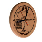Boise State Laser Engraved Wood Clock by the Holland Bar Stool Co.