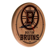 Boston Bruins Laser Engraved Wood Clock by the Holland Bar Stool Co.
