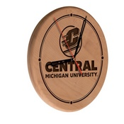 Central Michigan Laser Engraved Wood Clock by the Holland Bar Stool Co.