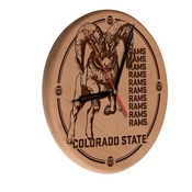 Colorado State Laser Engraved Wood Clock by the Holland Bar Stool Co.