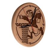 University of Dayton Laser Engraved Wood Clock by the Holland Bar Stool Co.