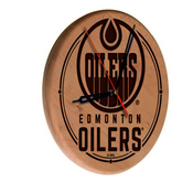 Edmonton Oilers Laser Engraved Wood Clock by the Holland Bar Stool Co.