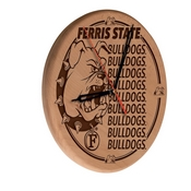 Ferris State Laser Engraved Wood Clock by the Holland Bar Stool Co.