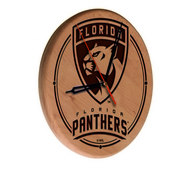 Florida Panthers Laser Engraved Wood Clock by the Holland Bar Stool Co.