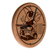 Georgia Tech Laser Engraved Wood Clock by the Holland Bar Stool Co.